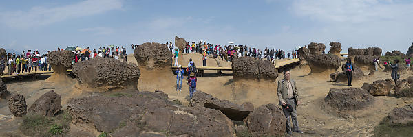 Crowds At Yehliu Geopark