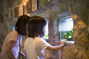 Nara And Claira With Small Fish Tank