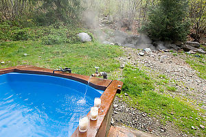 Blue Tub With Hot Spring