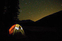 Tent With Night Sky