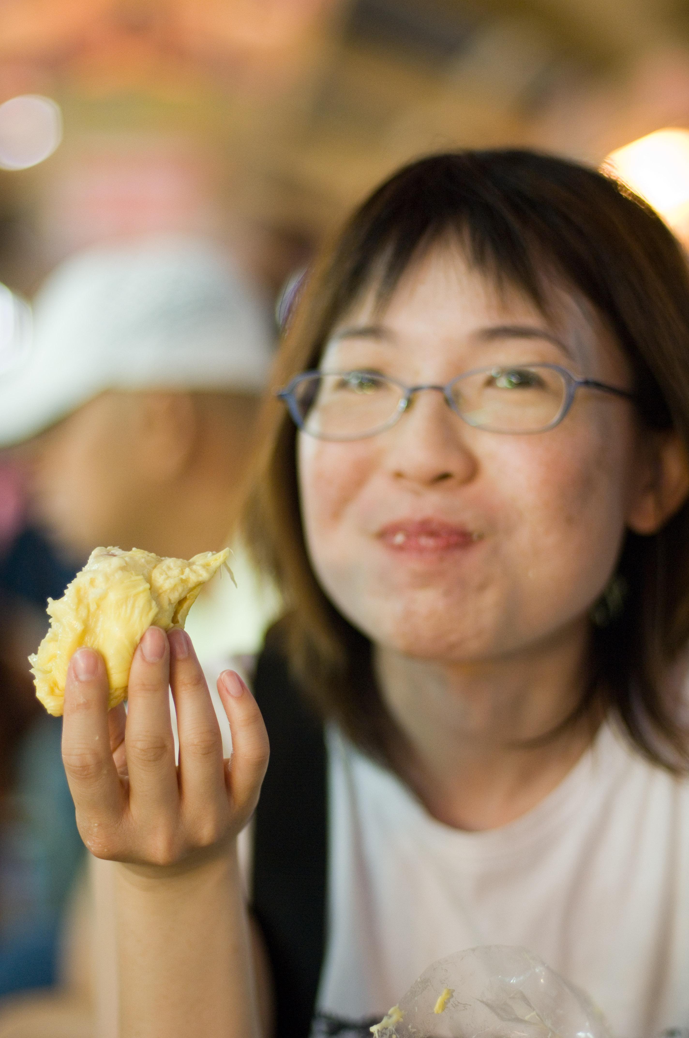 Helen Eating Durian