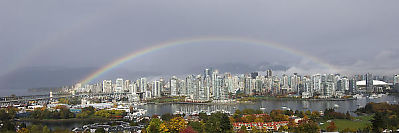 Vancouver With Rainbow
